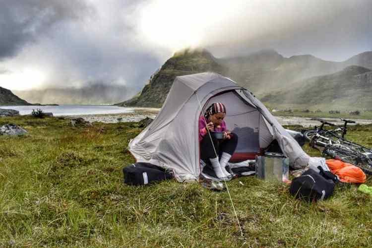 camping lofoten islands