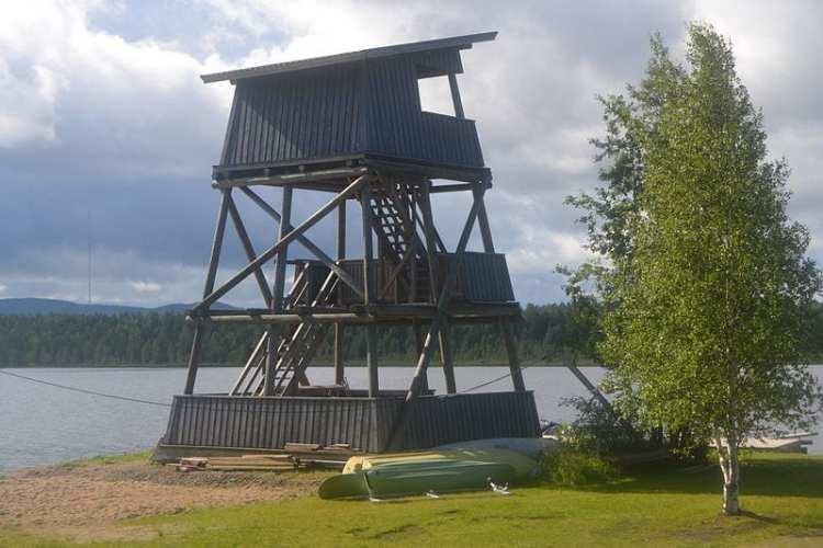 birdwatching tower finland