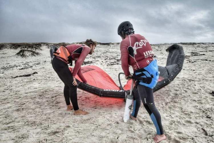 kitesurfin course langebaan