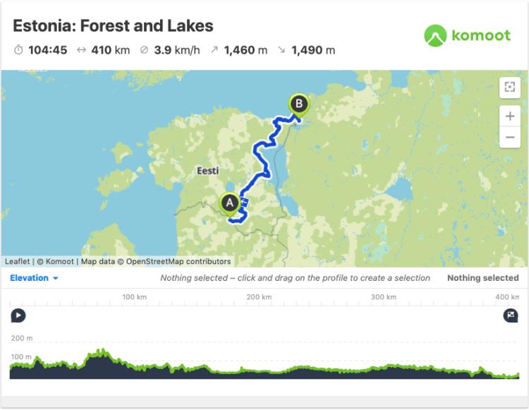 estonia bike routes GPX