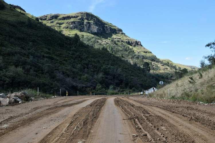Sani Pass costruzione strada