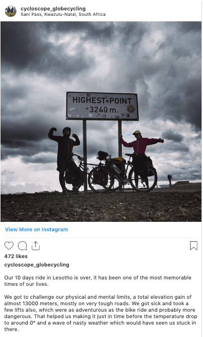 Sani Pass Instagram