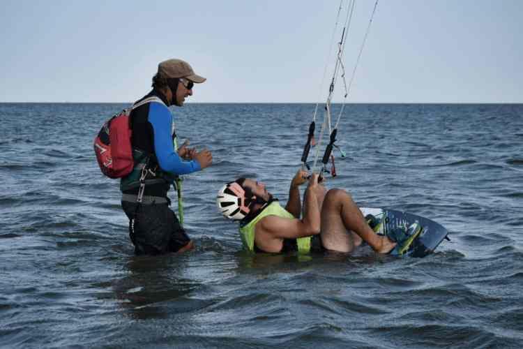 kitsurfing lesson maputo