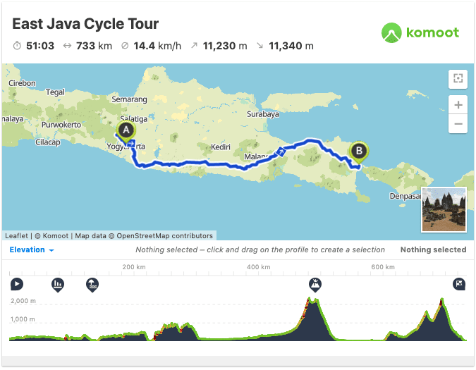 cycling indonesia route map gps