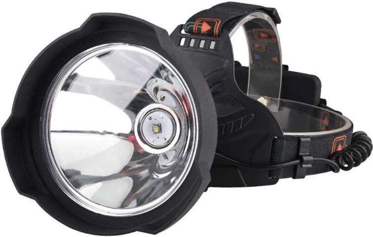 Rechargeable Headlamp Best Brightest Spotlight Headlight Long Shot Outdoors Camping Run