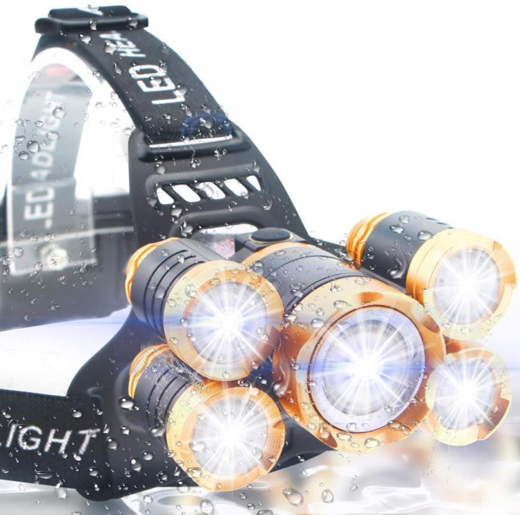 brightest USB Rechargeable Head Lamp Flashlight