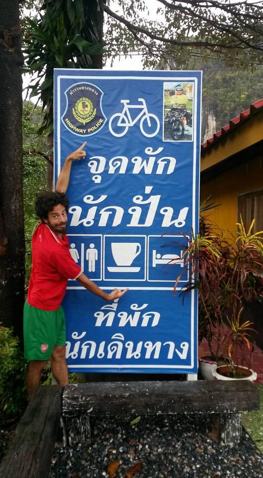 police station bike stop thailand