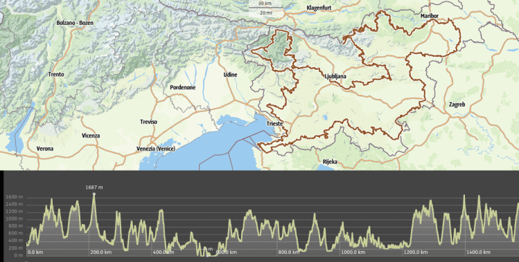 cycle route GPS map slovenia GPX