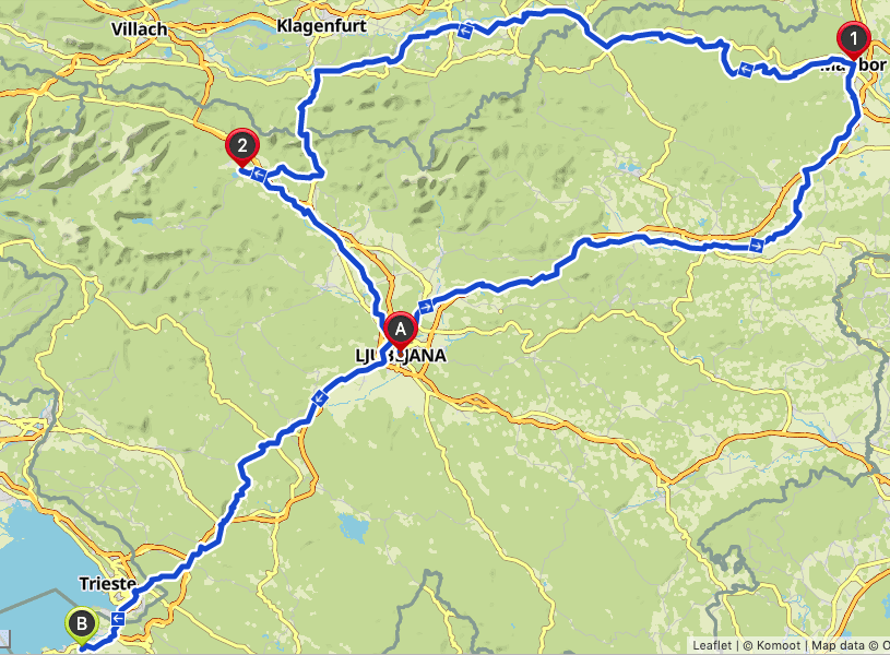 cycling slovenia route gps map