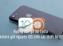 gỡ bỏ Cydia