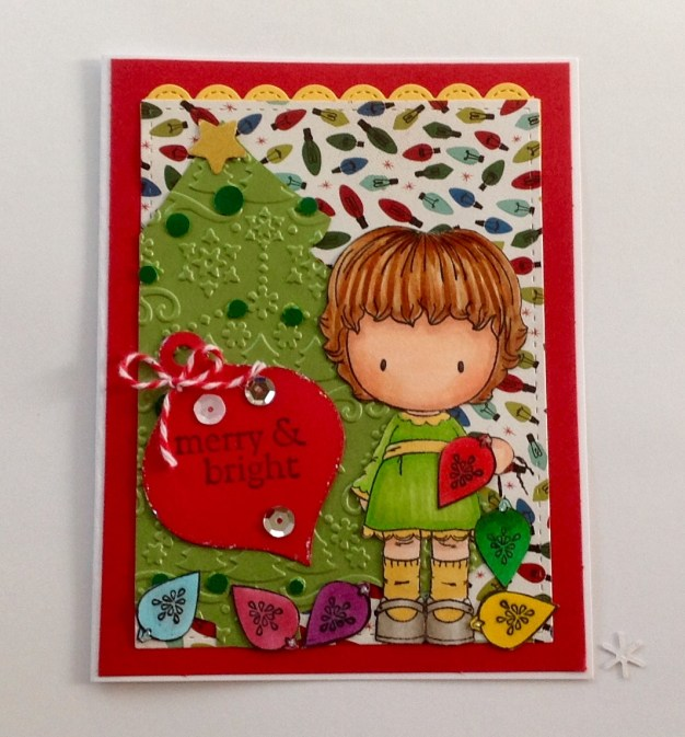 CC Designs Trim the Tree Rubber Stamps