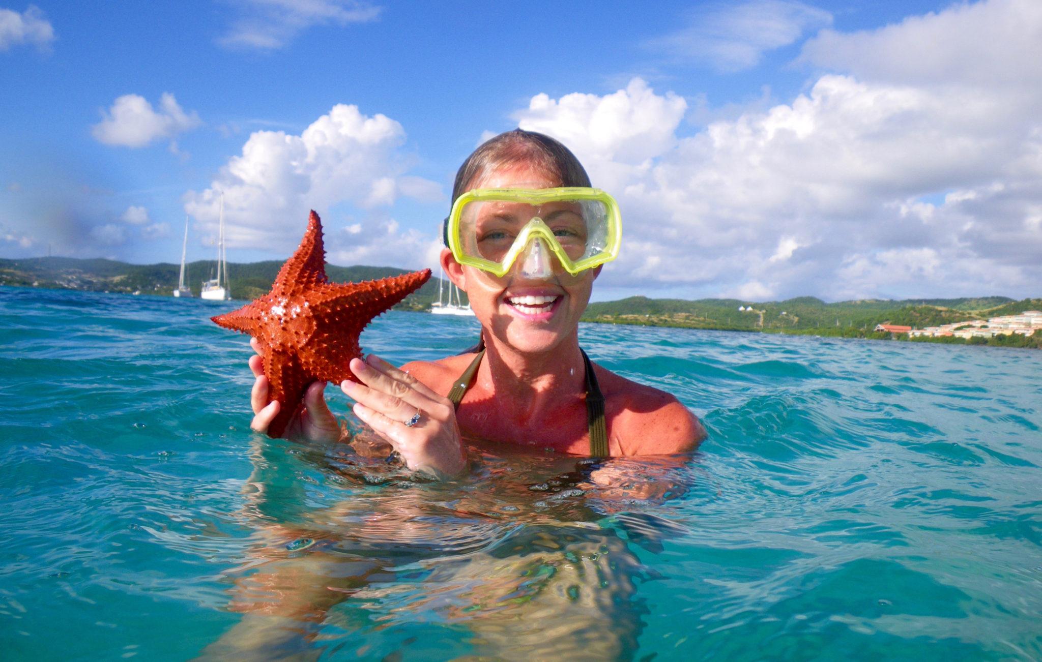 Scuba Diver with Starfish
