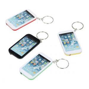 Smartphone nøglering med lommelygte