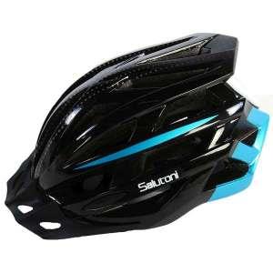 Salutoni herre cykelhjelm i sort og blå - Set fra højre