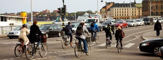 Flöde av cyklister