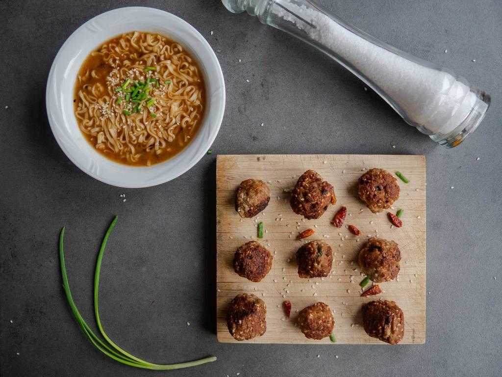 Mongolian Meatball Ramen recipe