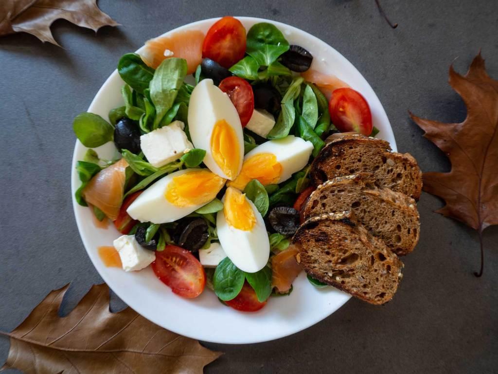 salad with salmon recipe