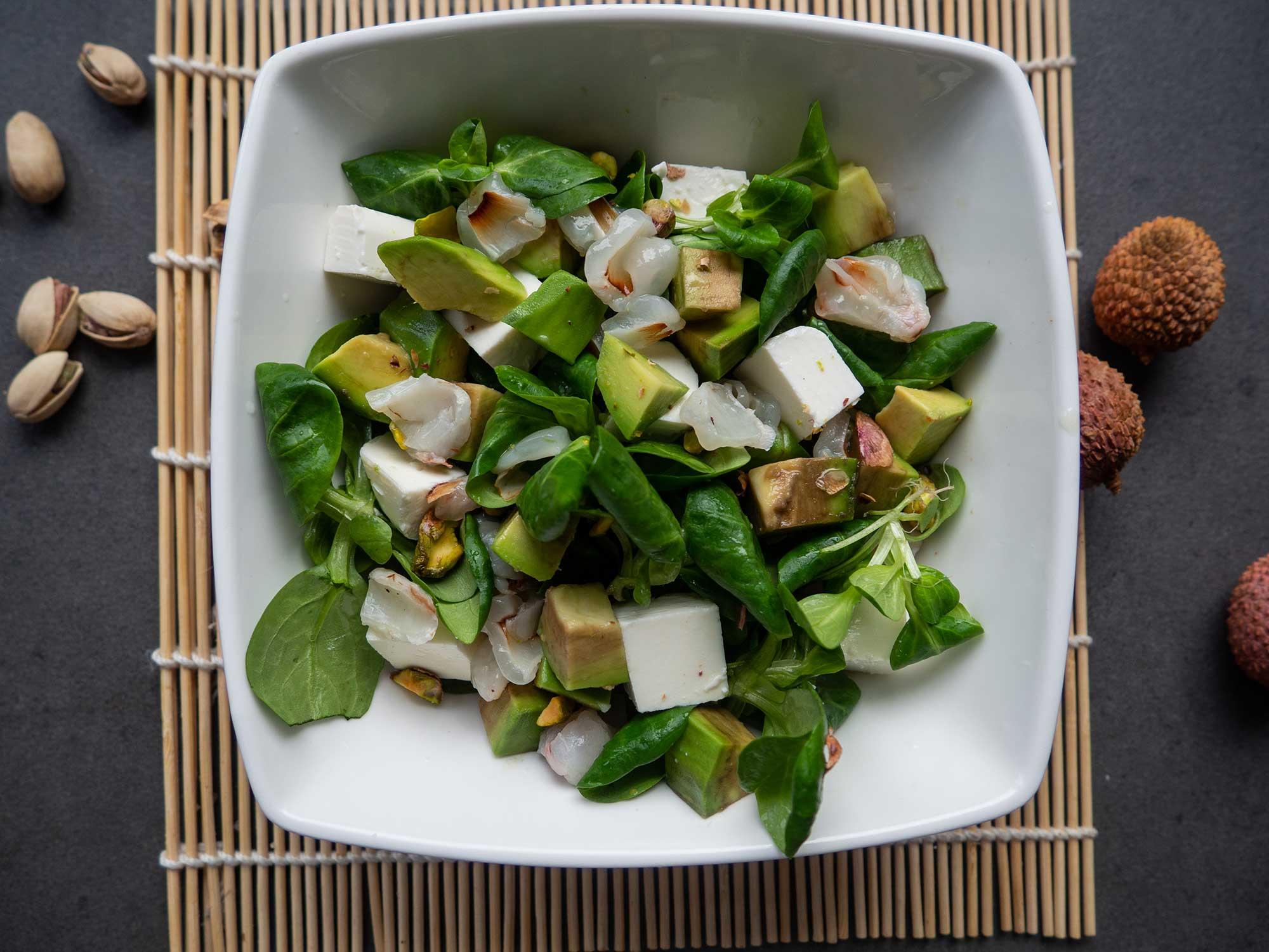 Salad with avocado