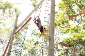 guy swinging on a rope at camp 2017