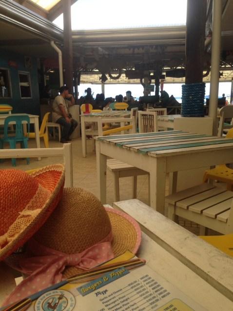 hats and menu