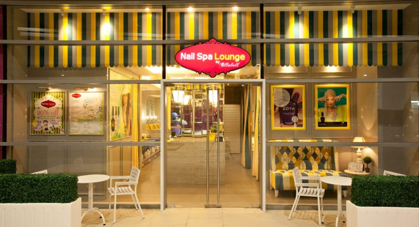 nail spa lounge facade