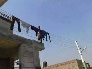 High tension wire for sunning cloths