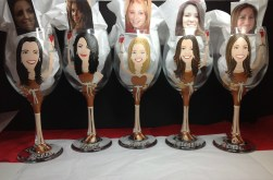 Custom bridesmaid Wine Glasses
