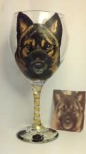 Pet Portrait Wine Glass