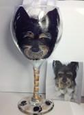Custom Dog Portrait Wine Glass