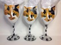 Cat Portrait Wine Glasses
