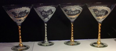 Custom Martini Glasses