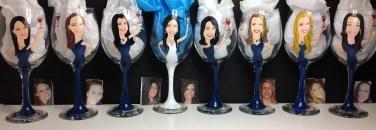 Custom Bridesmaid Glasses Portrait Wine Glass