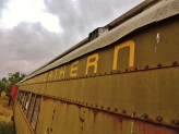 Great Northern train cars for sale.