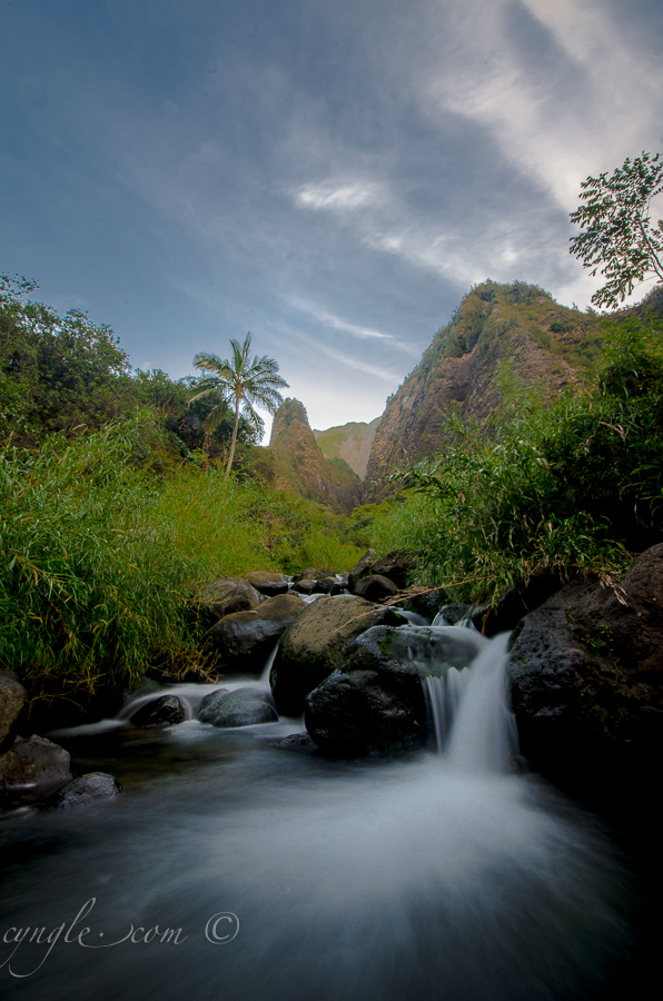 Iao Needle with 5 second shutter.