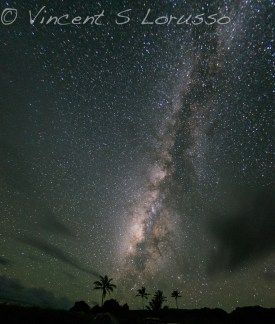 The Milky Way over Kipahulu campground.