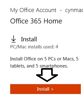Office-account-install