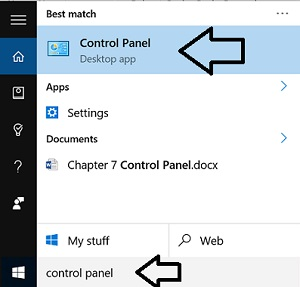 control-panel-search