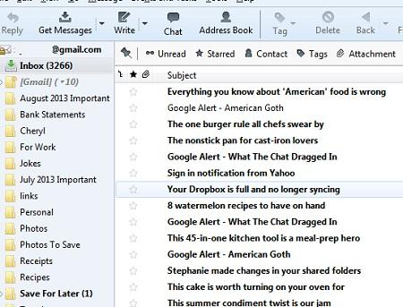 gmail-thunder-bird-inbox-folders