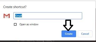 create-shortcut-choose