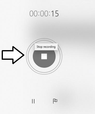 recording starts