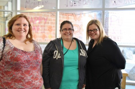 Linda MacKay from Timberlea, Natalie Shupe from Clayton Park and Jennifer Prosper from Timberlea attended the conference and say Skenazy's information is eye-opening. (L-R)