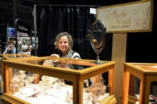 """I take previously loved jewelry apart and recreate it,"" says Merlin Walsh of Merlin Walsh Designs. She also creates uniquely ornate windchimes from silver tea pots and cutlery."