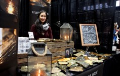 Artisan Kimiko Willgress says she makes her Prana Rock candles by hand and most of the rocks come from all over Nova Scotia.