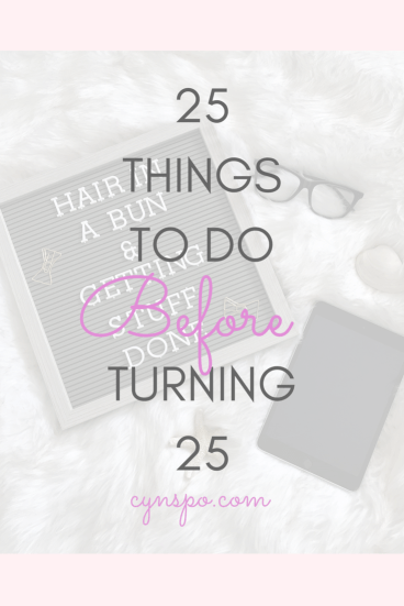 25 things to do before turning 25, flat lay of letter board, iPad and glasses