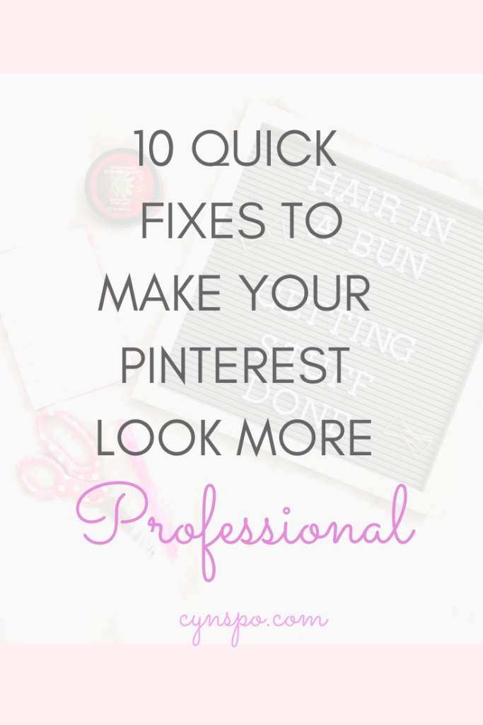 flatlay. 10 Quick fixes to make your Pinterest look more professional