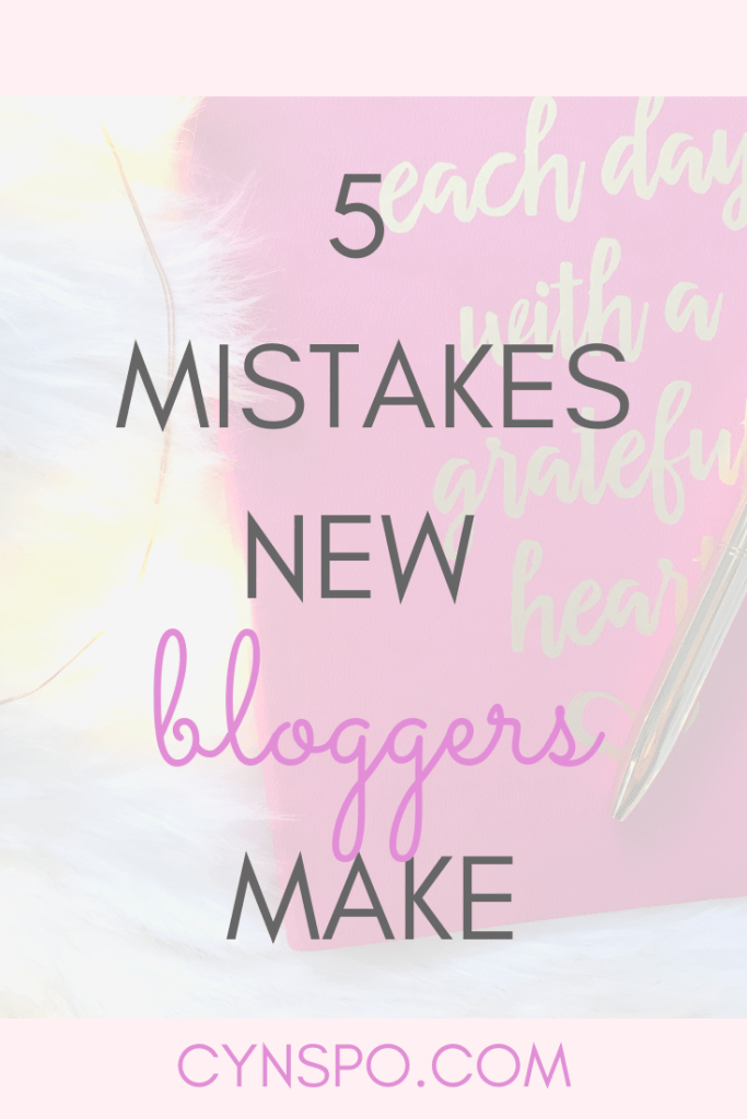 5 mistakes new bloggers make. Pink notebook flat lay. fur rug. diamond gold pen. twinkle lights