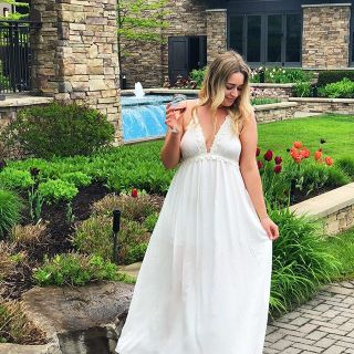 Trius winery. Maxi dress from forever 21. Rose wine.