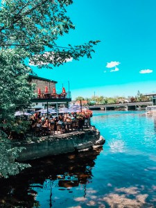 The Barley Mow Almonte. Almonte Ontario. Waterfront patio.