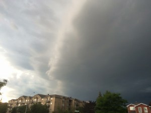 storm front of house