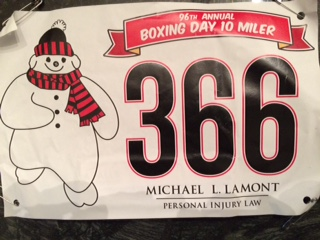 Race Report: Boxing Day Ten Miler